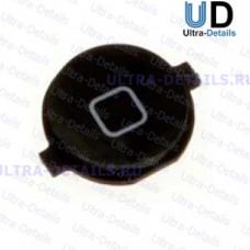 Кнопка Home iPhone 4 чёрная