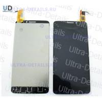 Дисплей Alcatel OT-6040D (Idol X) в сборе с тачскрином (черный)