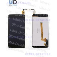 Дисплей Alcatel OT-6043D (Idol X+) в сборе с тачскрином (черный)
