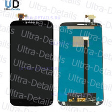 Дисплей Alcatel OT-8030Y/OT-8030B (Hero 2) в сборе с тачскрином (черный)