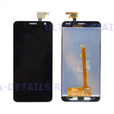 Дисплей Alcatel OT-6012D/OT-6012X (Idol Mini) в сборе с тачскрином (черный)