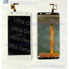 Дисплей Alcatel OT-6036Y (Idol 2 Mini S) в сборе с тачскрином (белый)