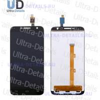 Дисплей Alcatel OT-6016X/OT-6016D/6014X (Idol 2 Mini/Idol 2 Mini L) в сборе с тачскрином (черный)