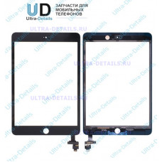 Тачскрин iPad Mini 1/2 (черный) с разъемом