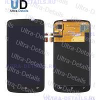 Дисплей HTC One S/Z520 в сборе с тачскрином (черный)