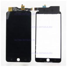 Дисплей Alcatel OT-5022D (Pop Star 3G) в сборе с тачскрином (черный)