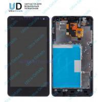 Дисплей LG E975/E971/E973/E977/F180 (Optimus G) в сборе с тачскрином (черный) с рамкой