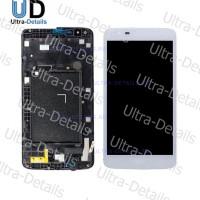 Дисплейный модуль LG X210 белый с рамкой