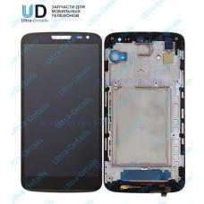 Дисплей LG D618 (G2 mini) в сборе с тачскрином (черный) с рамкой