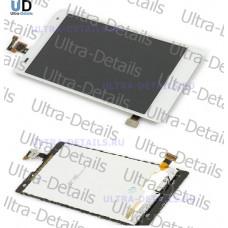 Дисплей Huawei Honor 3C в сборе с тачскрином (белый)