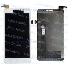 Дисплей Lenovo S860 в сборе с тачскрином (белый)