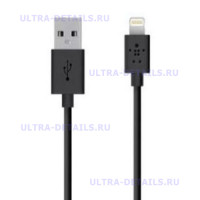 Кабель USB Lightning Black Belkin (черный)