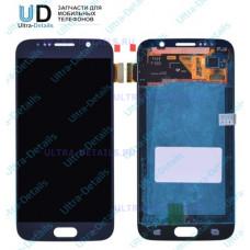 Дисплей Samsung   SM-G920F Galaxy S6  дисплей в сборе с тачскрином и передней панелью (синий) оригинал