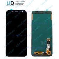 Дисплей Samsung J600F (J6 2017) в сборе с тачскрином черный - AAA (TFT) с регулируемой подсветкой