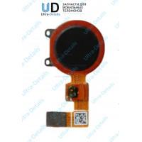 Шлейф Huawei Honor 7C  сканер отпечатка пальца черный