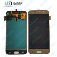 Дисплей Samsung SM-G920F Galaxy S6 в сборе с тачскрином (золотой) оригинал