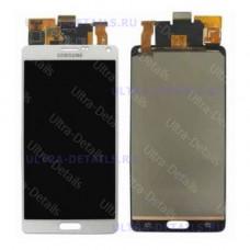 Дисплей  Samsung Note4 (N910)  в сборе с тачскрином(белый) оригинал