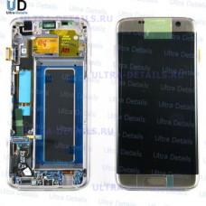 Дисплей Samsung (G935) S7 edge  в сборе с тачскрином (золотой) оригинал