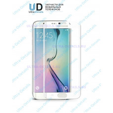 Защитное стекло 3D для Samsung Galaxy S6 Edge белый