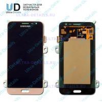 Дисплей Samsung J3 (J320f) золото оригинал в сборе с тачскрином