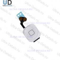 Комплект кнопки Home iPhone 5(шлейф+кнопка)белый