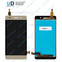 Дисплей Huawei Honor 4C (CHM-U01)  в сборе с тачскрином (золотой)