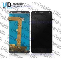 Дисплей Alcatel OT-5051D (Pop 4) в сборе с тачскрином (черный)