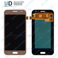 Дисплей Samsung J2 (J200F)  в сборе с тачскрином (золотой) оригинал