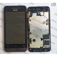 Дисплей Asus ZenFone 4 (A400CG) в сборе с тачскрином (черный) с рамкой Оригинал