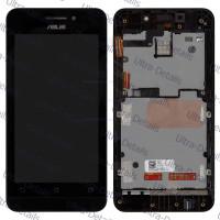 Дисплей Asus ZenFone 4 (A450CG) в сборе с тачскрином (черный) с рамкой
