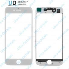 Стекло с рамкой для переклейки iPhone 7 белый
