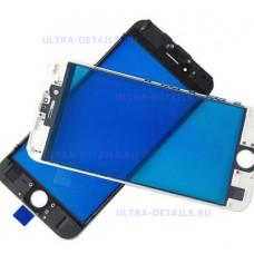 Стекло с рамкой для переклейки iPhone 7 Plus белый