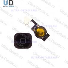 Комплект кнопки Home iPhone 5 (шлейф+кнопка) черный