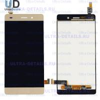 Дисплей Huawei P8 Lite (ALE-L21) в сборе с тачскрином (золотой)