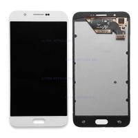 Дисплей Samsung A800F (A8 2015) в сборе с тачскрином белый (OLED)