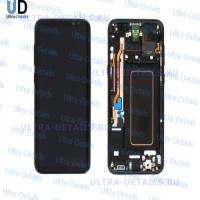 Дисплей Samsung S8+ (G955F) в сборе с тачскрином и рамкой (черный) оригинал б/у