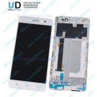 Дисплей  Lenovo A2020 в сборе с тачкрином с рамкой (белый)