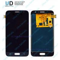 Дисплей Samsung J120F (J1 2016) в сборе с тачскрином черный - AA (TFT)