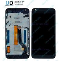 Дисплей HTC 626G в сборе с тачскрином с рамкой (черный) Оригинал