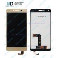 Дисплей Huawei Honor 5A (LYO-L21)/Y5 II (CUN-U29) в сборе с тачскрином (золотой)