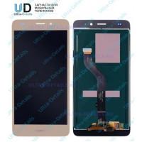 Дисплей Huawei Honor 5C (NEM-L51)/Honor 7 Lite (NEM-L21) в сборе с тачскрином (золотой)