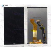 Дисплей HTC One E9+ в сборе с тачскрином (черный) с рамкой