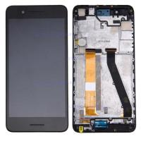 Дисплей HTC Desire 728 в сборе с тачскрином с рамкой (черный) Оригинал
