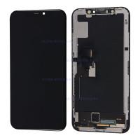 Дисплей iPhone XS в сборе с тачскрином (черный) (Переклееный Оригинал)