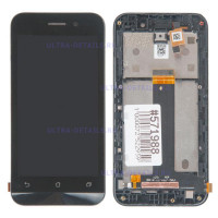 Дисплей Asus ZenFone Go (ZB452KG) в сборе с тачскрином (черный) с рамкой Оригинал