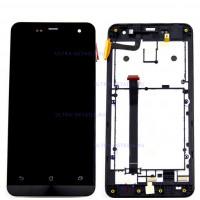 Дисплей Asus ZenFone 5 (A500KL/A501CG/A500CG) в сборе с тачскрином (черный) с рамкой