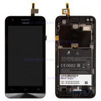 Дисплей Asus ZenFone C (ZC451CG) в сборе с тачскрином  (черный) с рамкой Оригинал