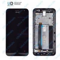 Дисплей Asus ZenFone 2 (ZE500CL) в сборе с тачскрином (черный) с рамкой Оригинал
