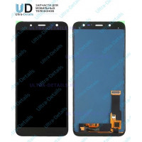 Дисплей Samsung J600F (J6 2018) в сборе с тачскрином черный Оригинал