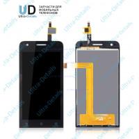 Дисплей Asus ZenFone C (ZC451CG) в сборе с тачскрином  (черный) с рамкой